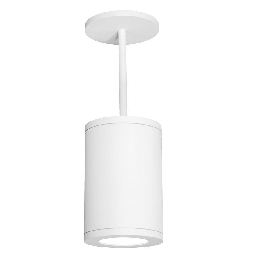 Janice 1-Light Cylinder Pendant Finish: White, Size: 33.27