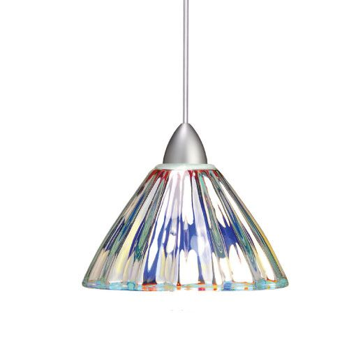 European Eden 1-Light Cone Pendant Canopy Type: LED Monopoint Canopy, Finish: Chrome