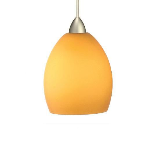 Contemporary Sarah 1-Light Cone Pendant Canopy Type: Monopoint Canopy, Finish: Brushed Nickel, Shade Finish: Red
