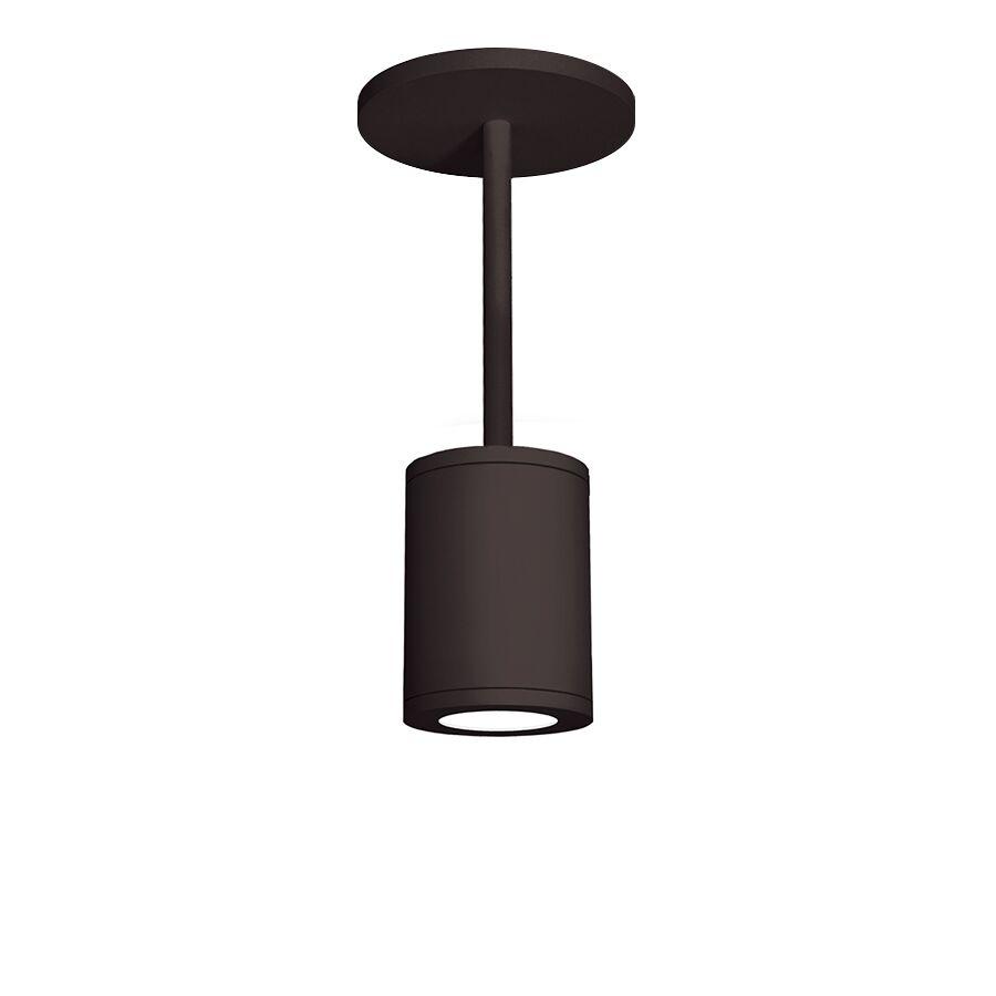 Janice 1-Light Cylinder Pendant Finish: Bronze, Size: 28.62