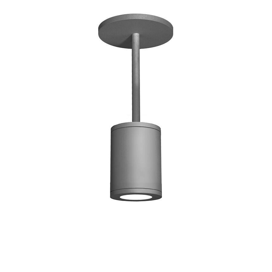 Janice 1-Light Cylinder Pendant Finish: Graphite, Size: 28.62
