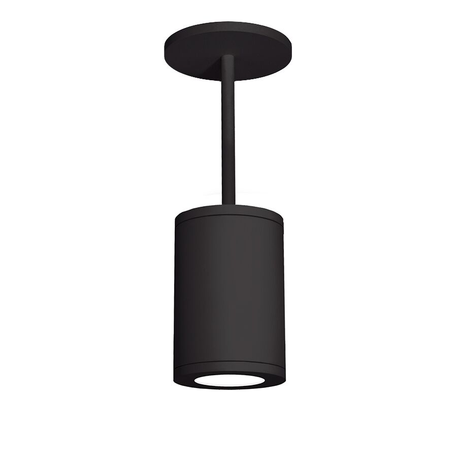Janice 1-Light Cylinder Pendant Finish: Black, Lens Degree: Spot, Size: 30.98