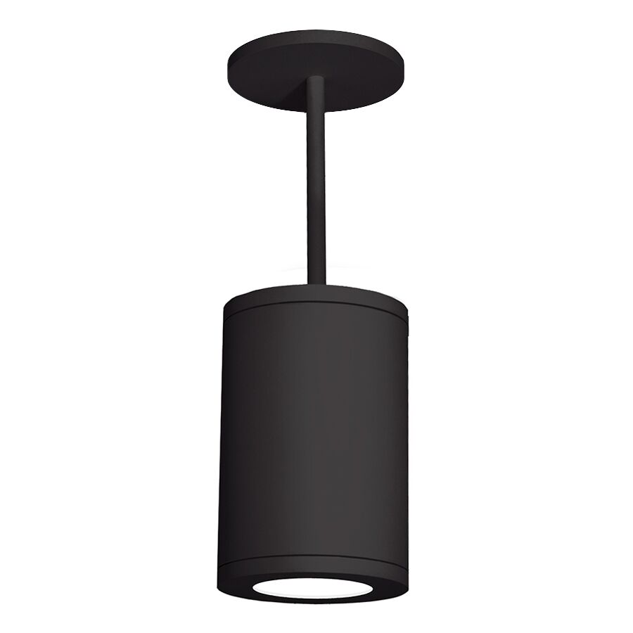 Janice 1-Light Cylinder Pendant Finish: Black, Size: 33.27