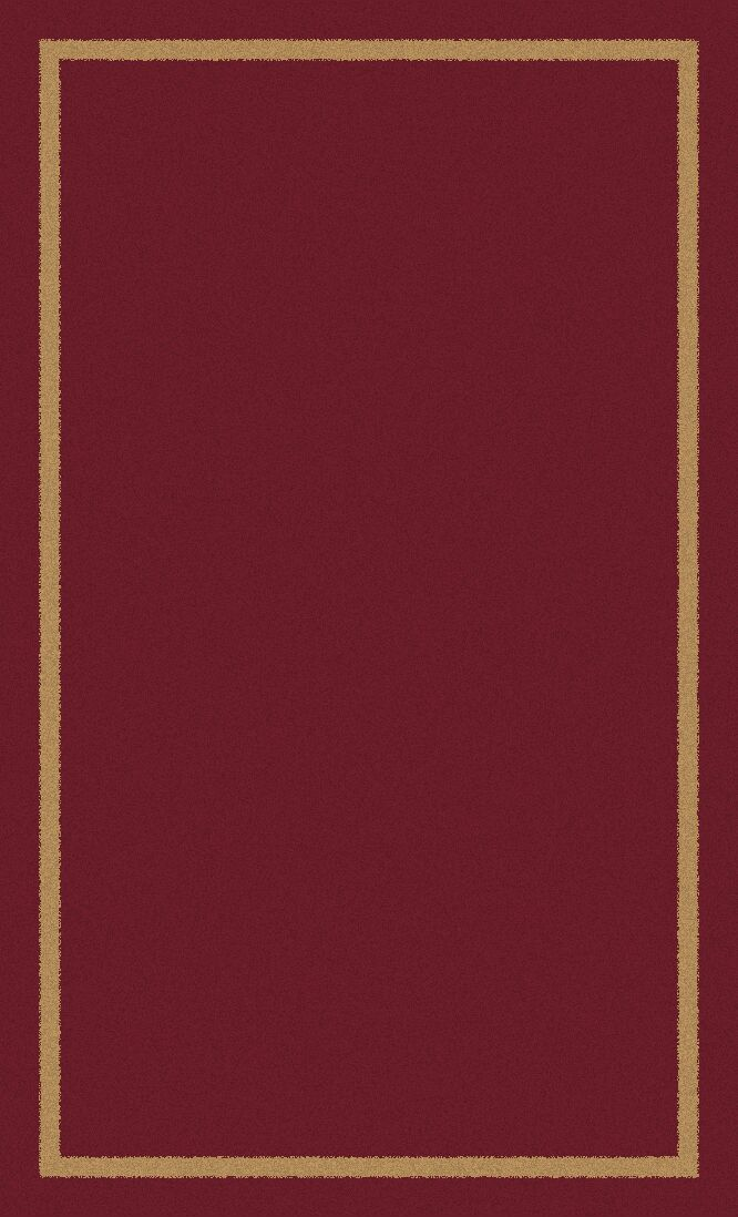 Henley Hand-Tufted Wool Red Area Rug Rug Size: Rectangle 8' x 10'