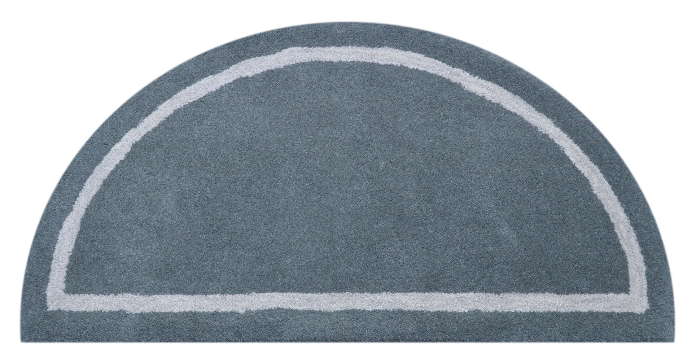 Henley Knotted/Tufted Wool Gray Area Rug Rug Size: Half Round 1'10