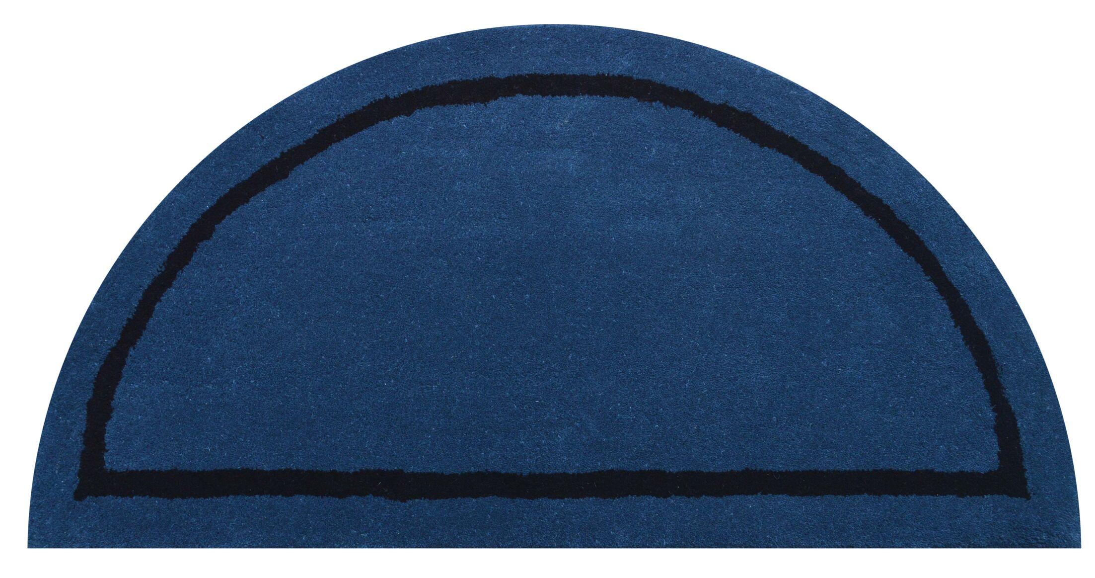 Henley Blue Area Rug Rug Size: Half Round 1'10