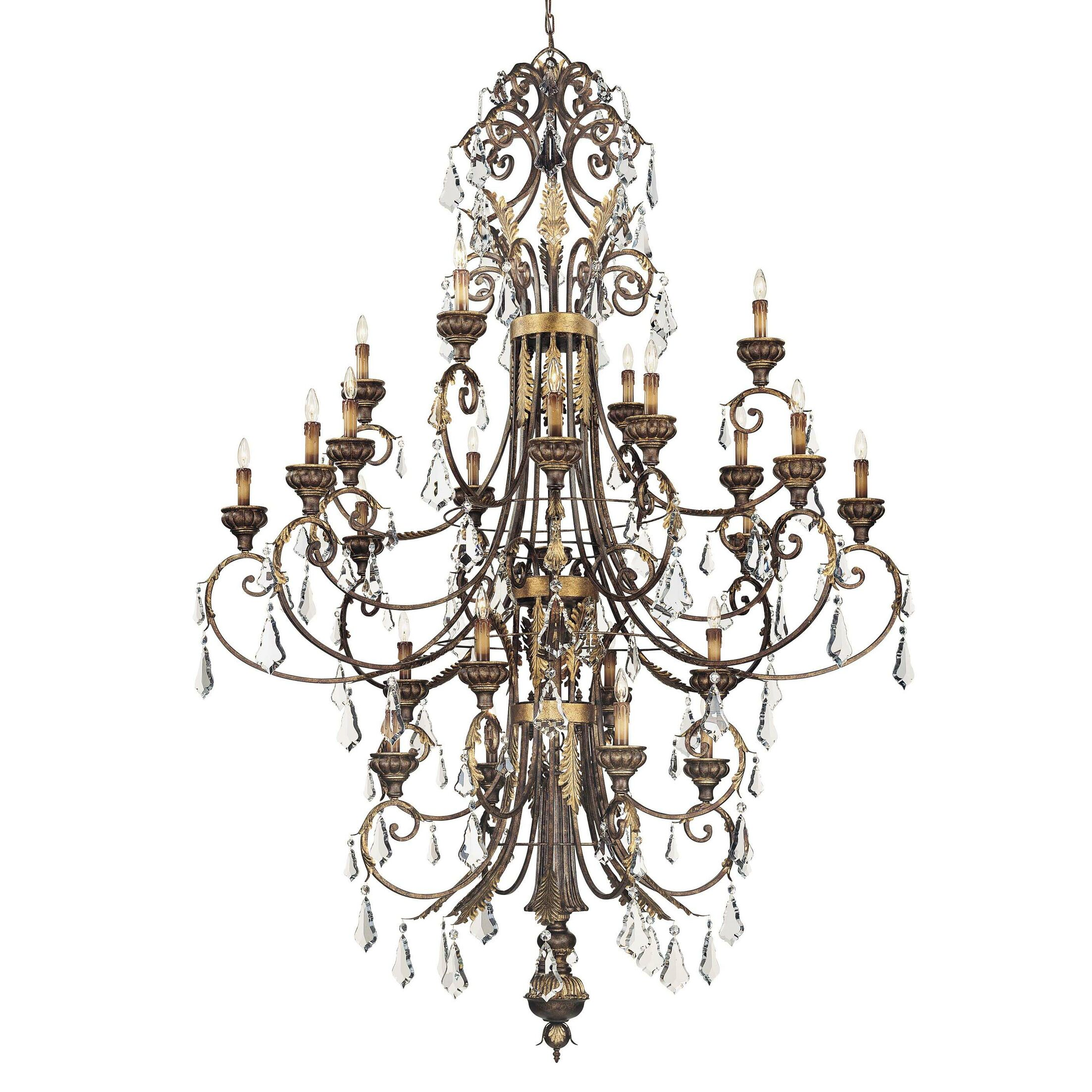 24-Light Candle Style Chandelier