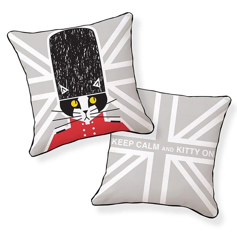 Keep Calm and Kitty On Throw Pillow