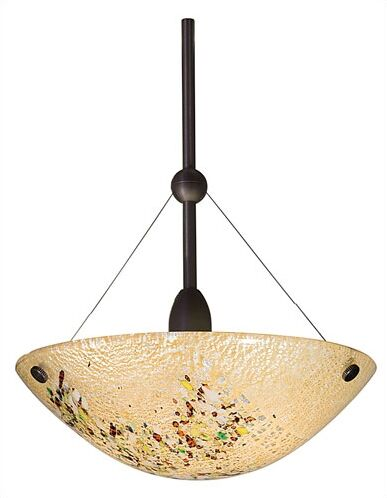 Mini Veneto 1-Light Bowl Pendant Color: Mocha, Finish: Satin Nickel, Mounting: Monopoint (canopy included)