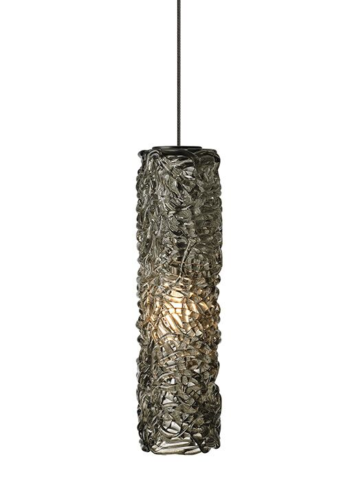 Chaisson 1-Light Cylinder Pendant Finish: Satin Nickel, Shade Color: Amber