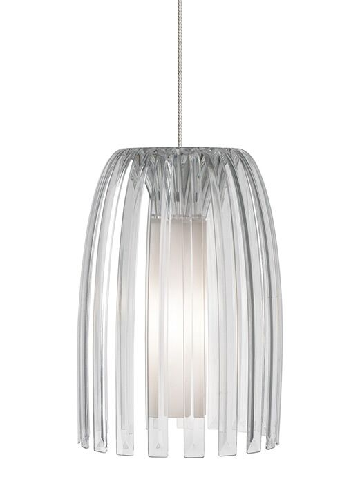 Cylinder-Olivia 1-Light Monopoint Pendant Bulb Type: GY6.35 Xenon 50 W, Shade Color: Clear