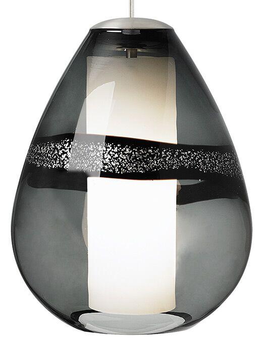Miyu Classic 1-Light Teardrop Pendant Bulb Type: Incandescent, Finish: Satin Nickel, Shade Color: Gray