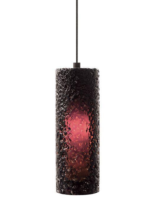 Mini-Rock 1-Light Cylinder Pendant Finish: Bronze, Shade Color: Amethyst, Bulb Type: LED Module 6 W