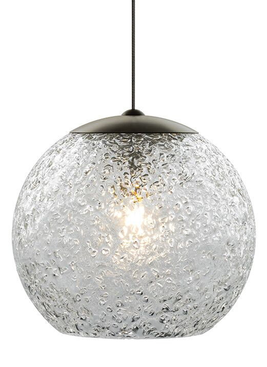 Rock Candy 1-Light Globe Pendant Finish: Bronze, Shade Color: Clear