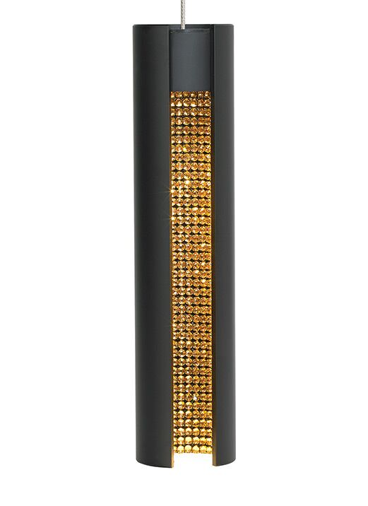 Stoneman 1-Light Cylinder Pendant Shade Color: Black/Gold