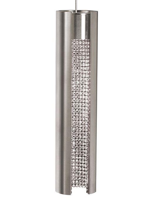 Stoneman 1-Light Cylinder Pendant Shade Color: Satin Nickel Exterior/Clear Crystal Interior