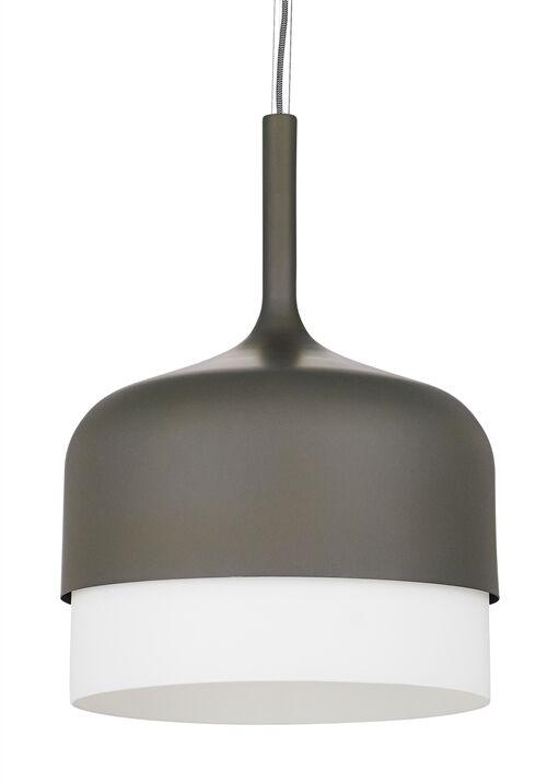 1-Light Pendant Finish: Gray, Bulb Type: LED