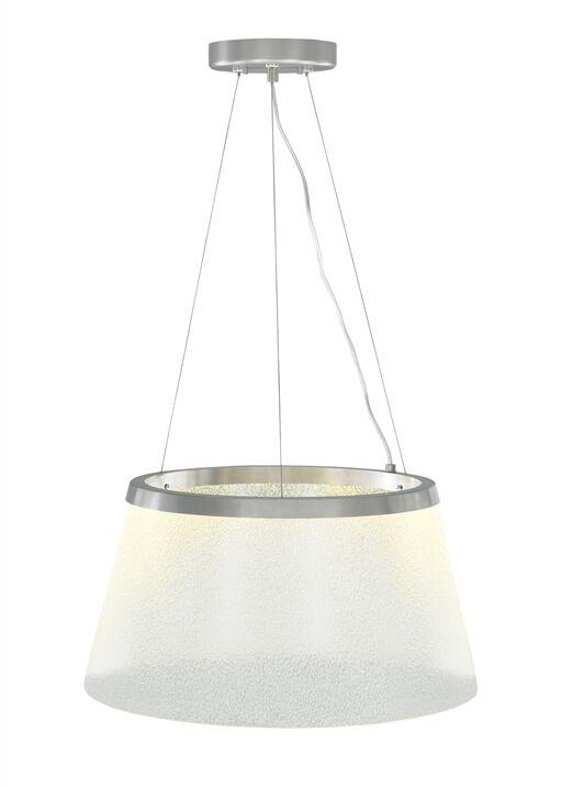 Ternate 1-Light Pendant Finish: Satin Nickel, Bulb Type: LED 277 V, Shade Color: Clear/Fizz