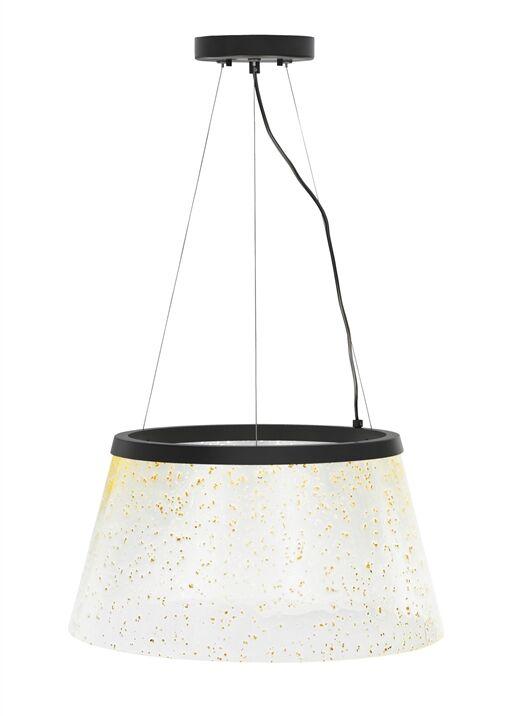 Ternate 1-Light Pendant Shade Color: Clear/Silver Mica, Bulb Type: LED 277 V, Finish: Bronze
