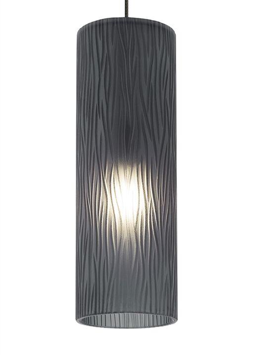 Akari 1-Light Cylinder Pendant Finish: Bronze, Shade Color: Steel�Blue