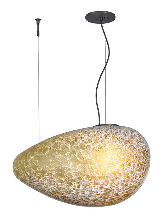 Constellation Grande 1-Light Geometric Pendant Bulb Type: Incandescent, Finish: Satin Nickel, Shade Color: Solid Opal