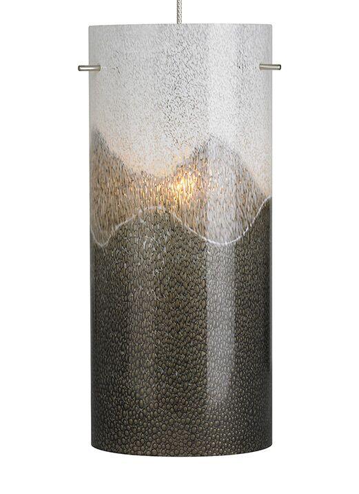 Dahling 1-Light Cylinder Pendant Finish: Bronze, Bulb Type: GY6.35 Xenon 50 W