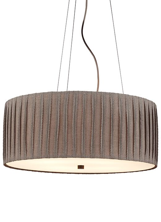 Cato 4-Light Pendant Finish: Bronze, Shade Color: Ivory, Bulb Type: Compact Fluorescent