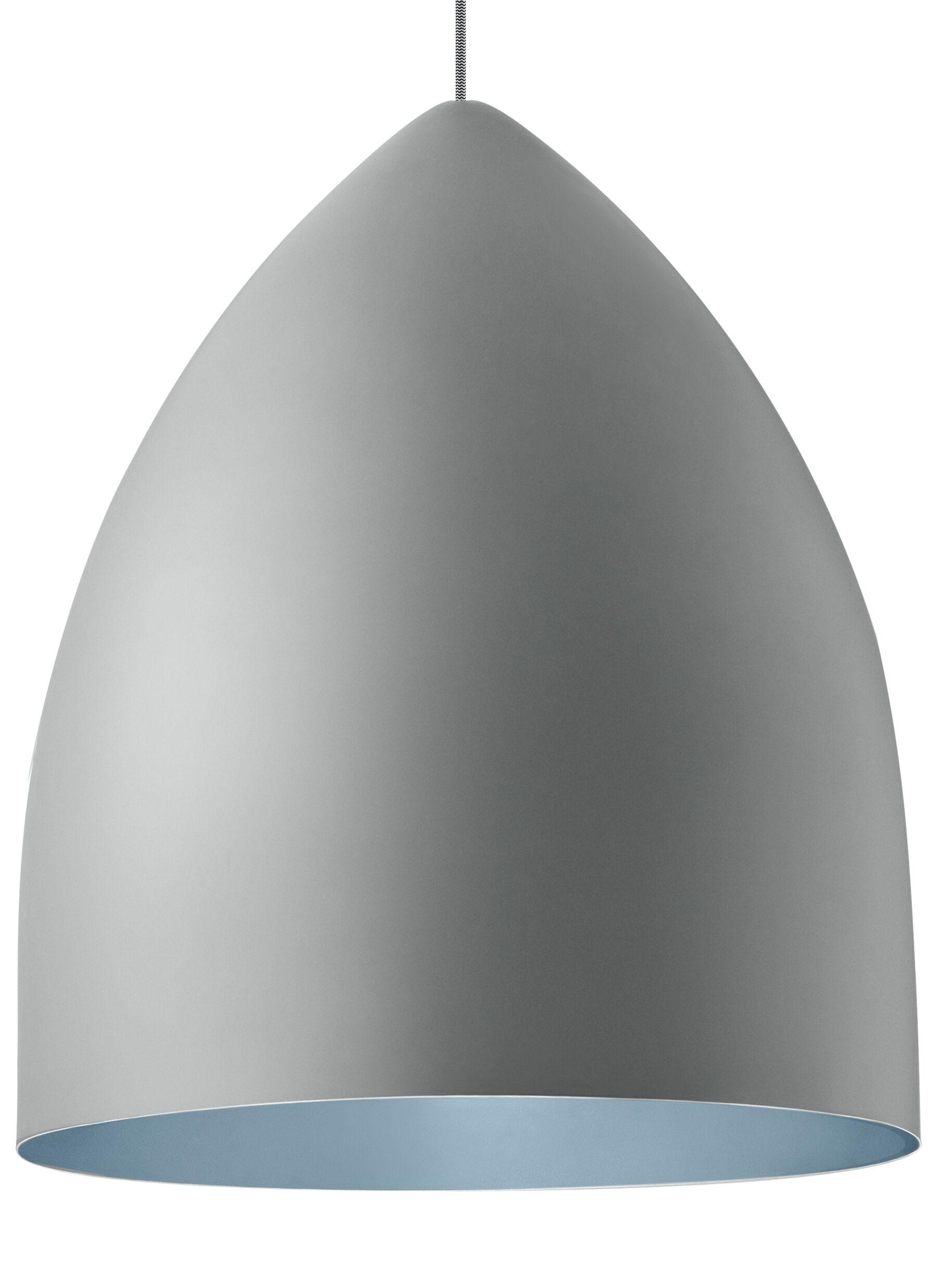 Cybulski 1-Light Cone Pendant Bulb Type: Compact�Fluorescent 277V, Shade Color: Rubberized Gray/Blue