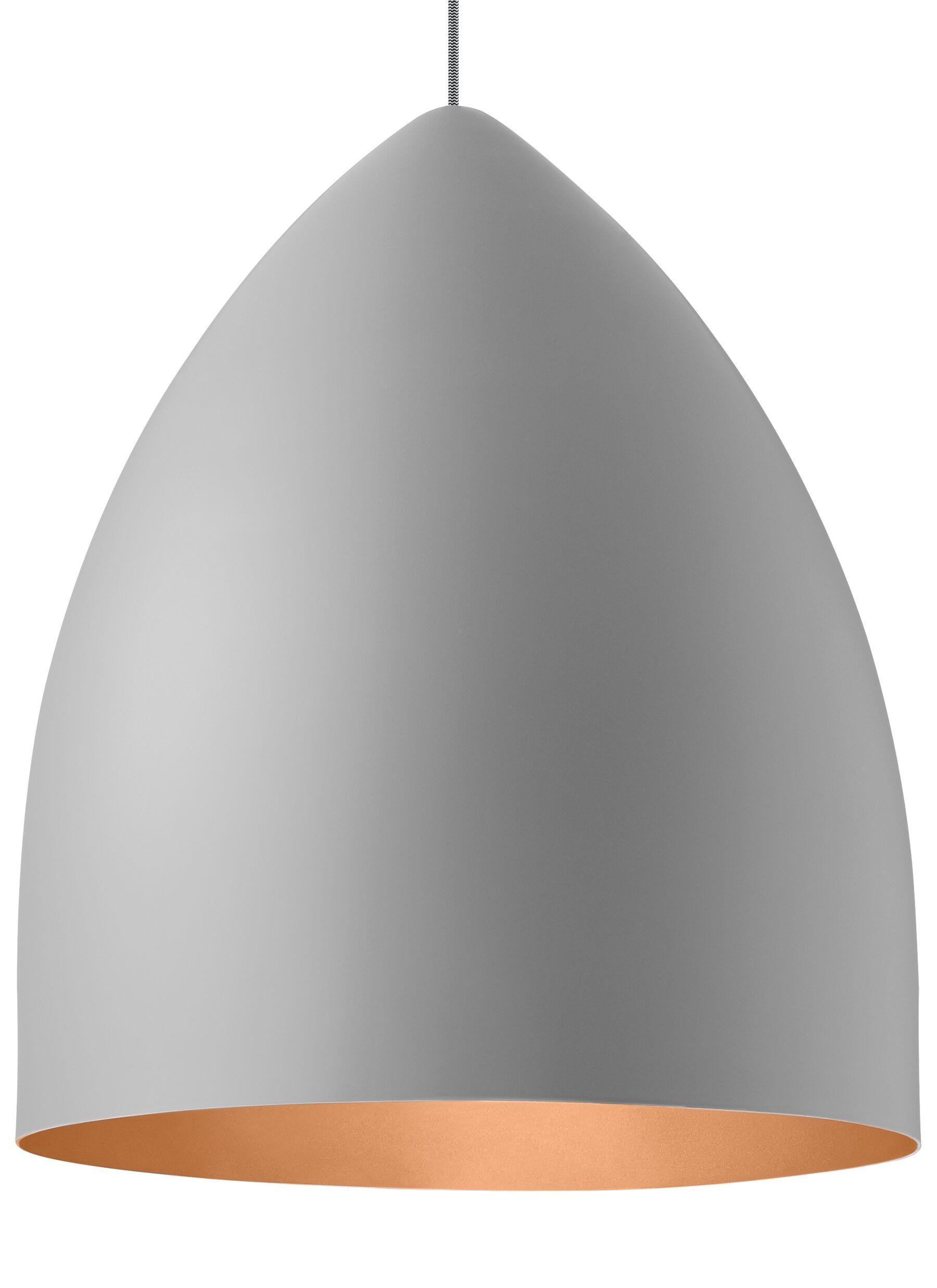 Cybulski 1-Light Cone Pendant Shade Color: Rubberized Gray/Copper, Bulb Type: Compact�Fluorescent 277V