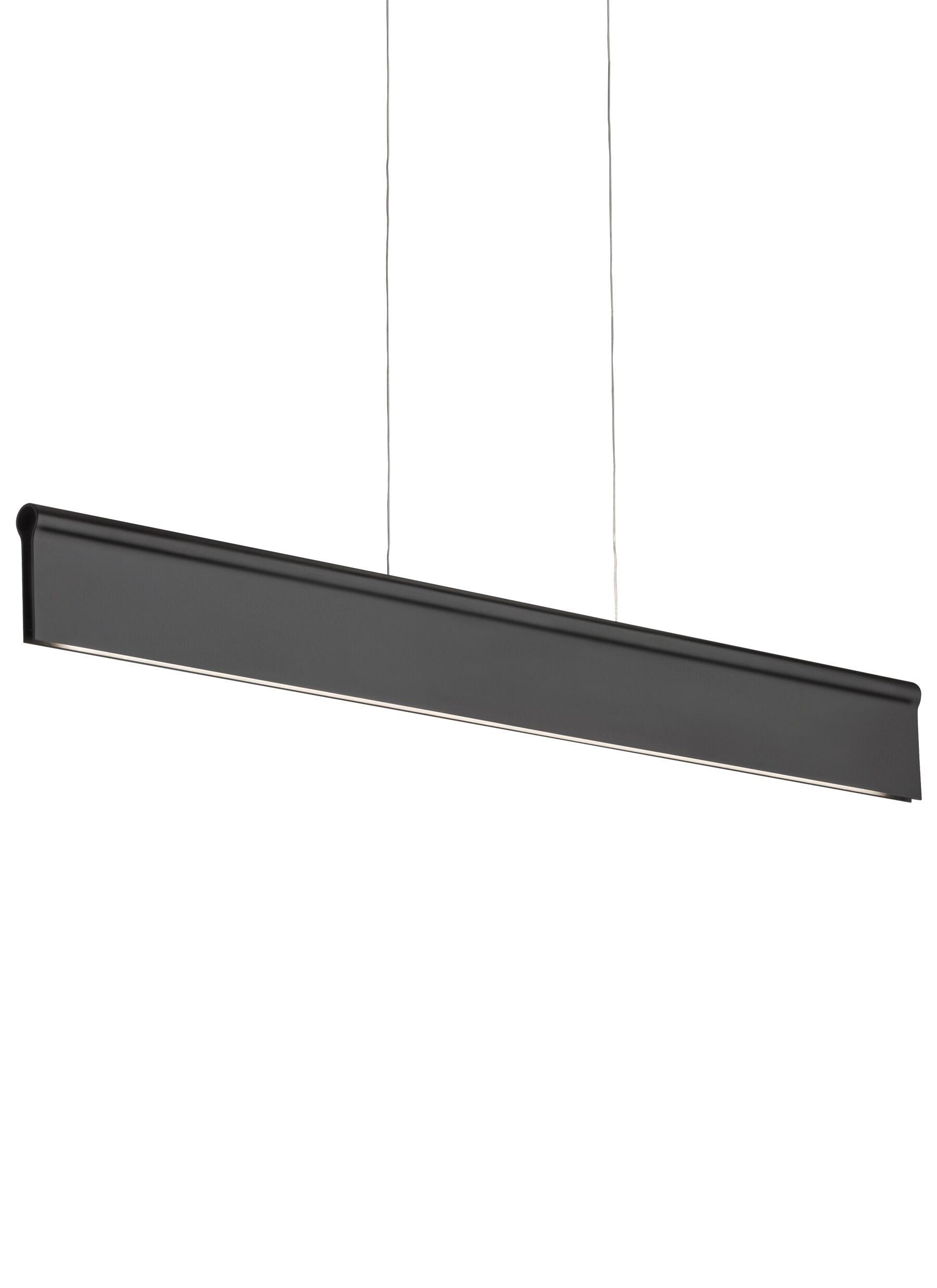 Whiten 1-Light Mini Pendant Finish: Black, Bulb Type: LED 277V