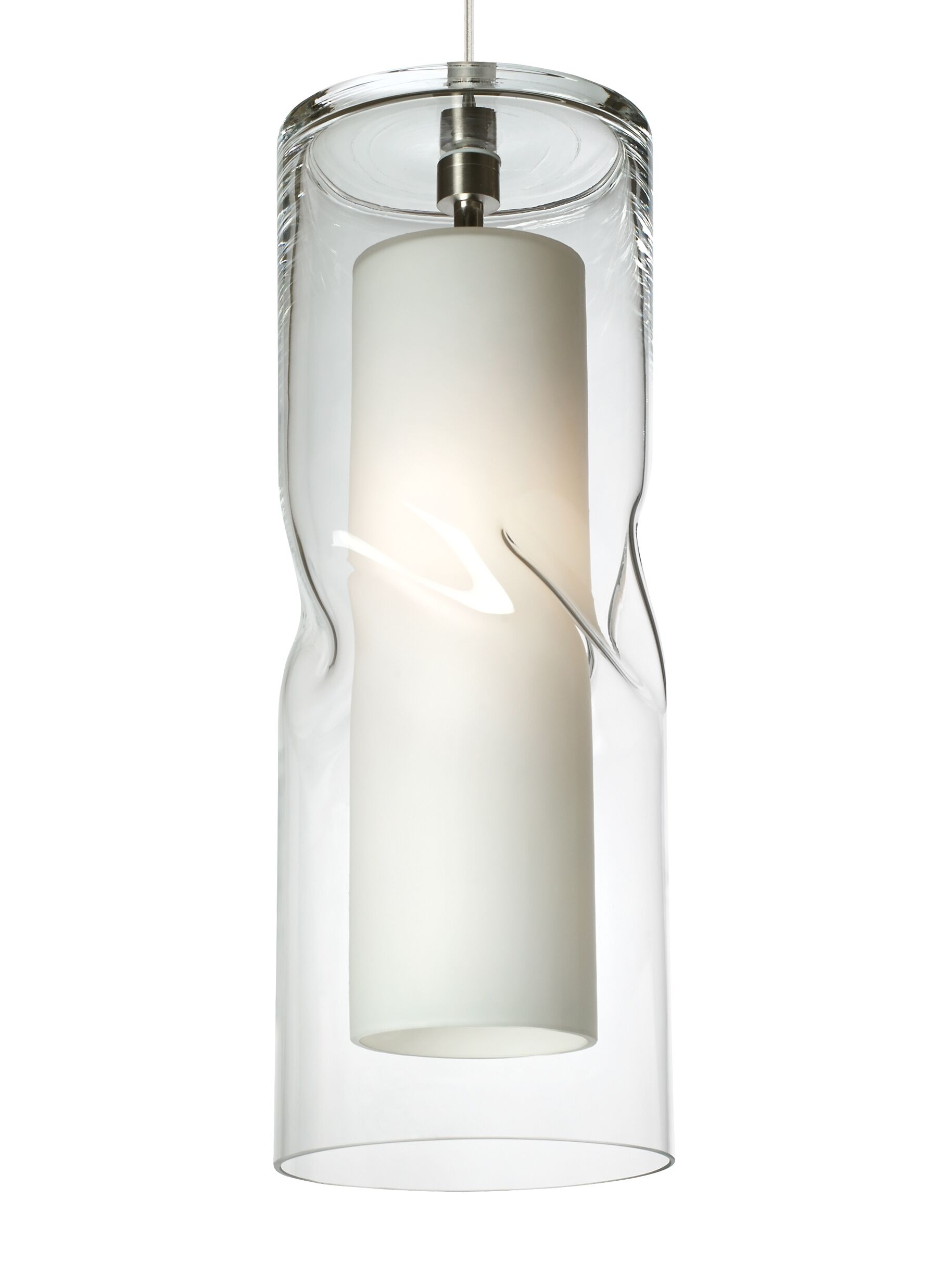 Mcculley 1-Light Cylinder Pendant Finish: Bronze, Shade Color: Clear, Bulb Type: Incandescent 277V
