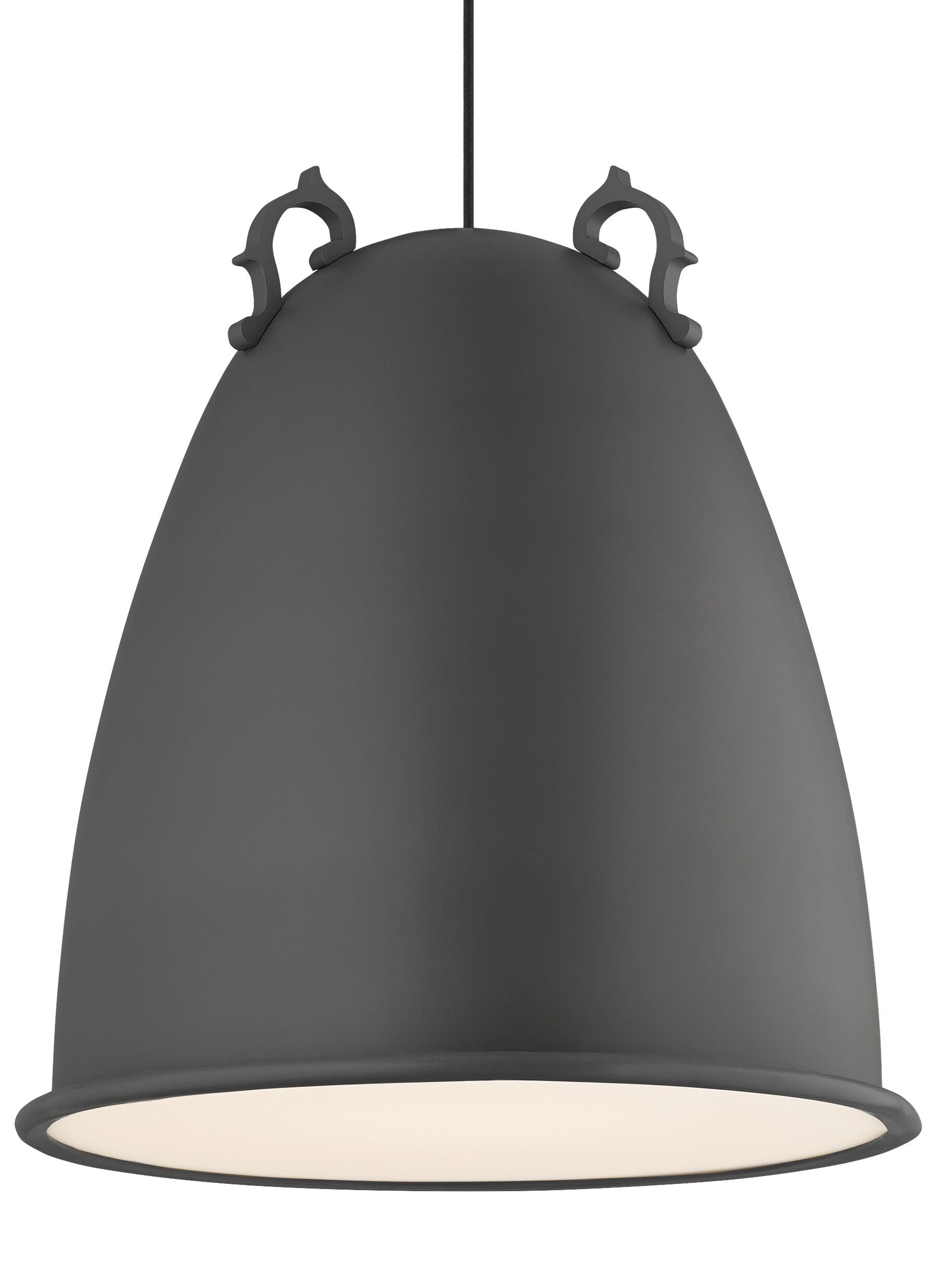 Malka 1-Light Bell Pendant Finish: Rubberized Charcoal Gray, Bulb Type: Incandescent 120V