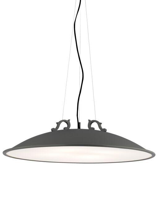 Malka 4-Light Bowl Pendant Finish: Rubberized Charcoal Gray, Bulb Type: Compact�Fluorescent 120V