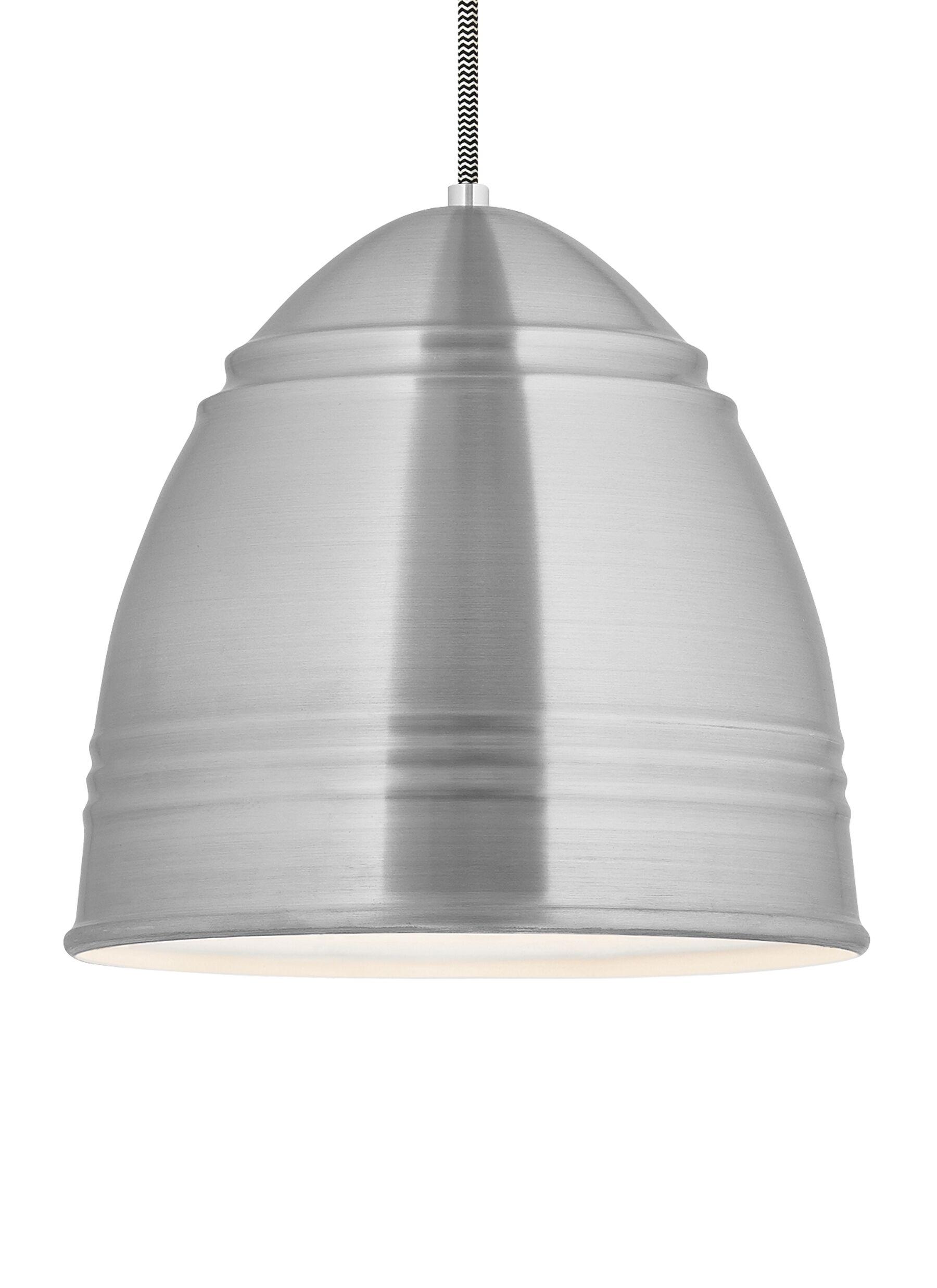 Cromartie 1-Light Bell Pendant Finish: Brushed Aluminum