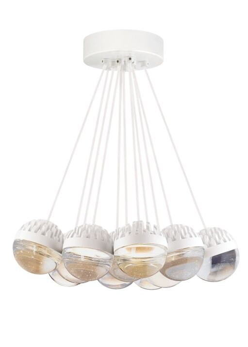 Sonntag 11-Light  LED  Pendant Finish: Rubberized�White, Shade Color: Cast�Clear