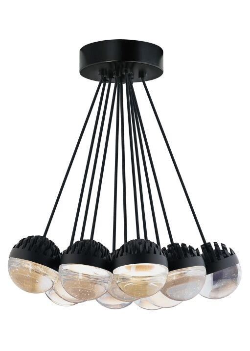 Sonntag 11-Light  LED  Pendant Finish: Rubberized�White, Shade Color: Frost