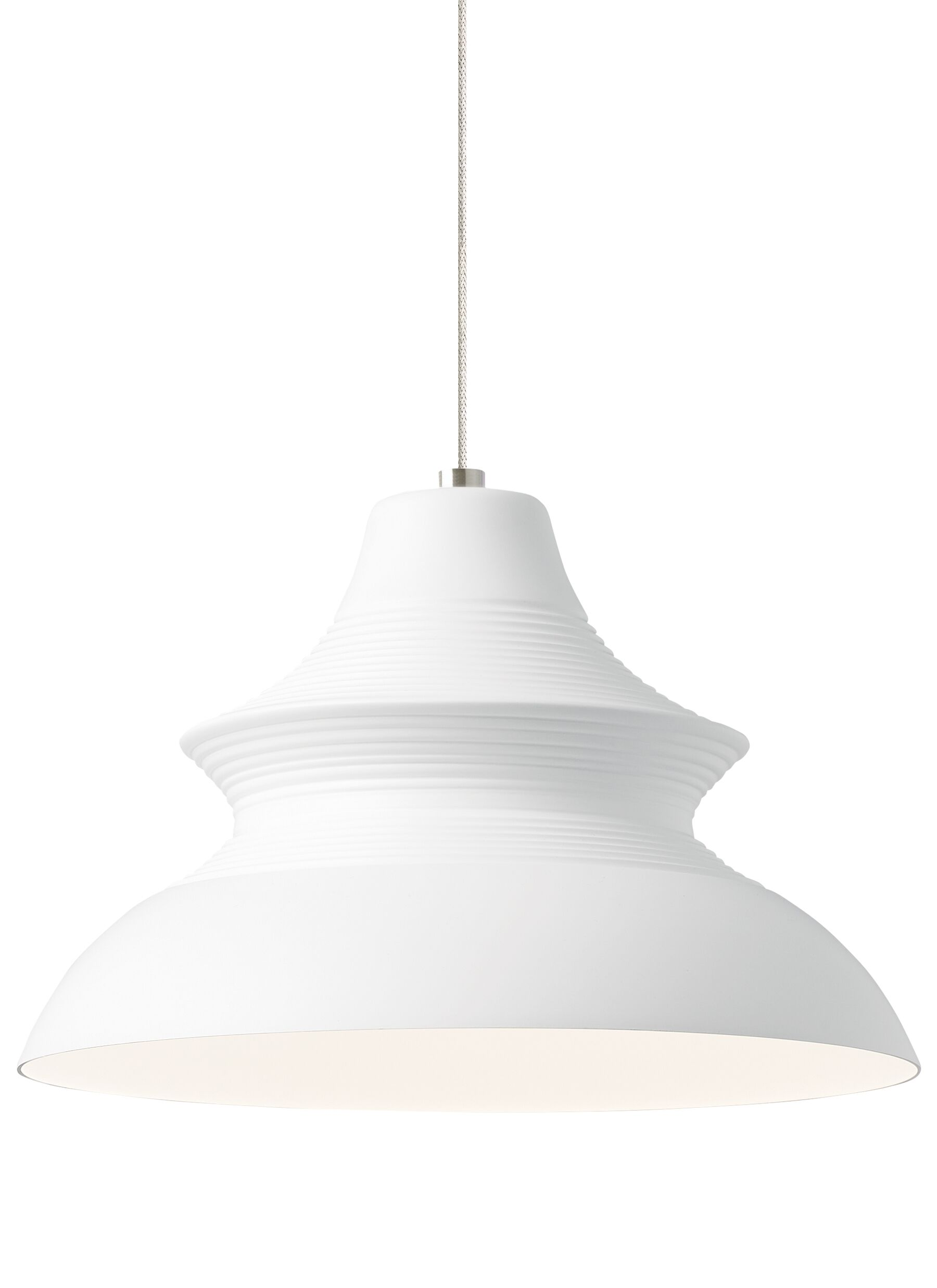 Togan 1-Light Bell Pendant Finish: White