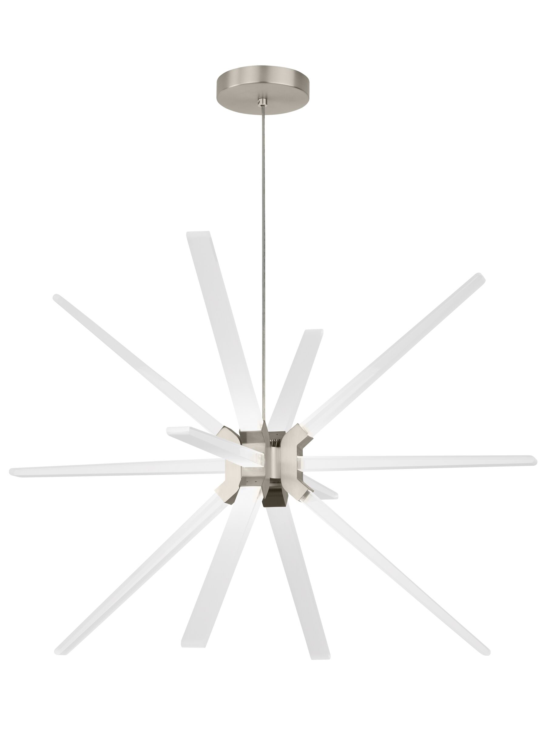 Maderia 12-Light  LED  Chandelier Finish: Satin Nickel
