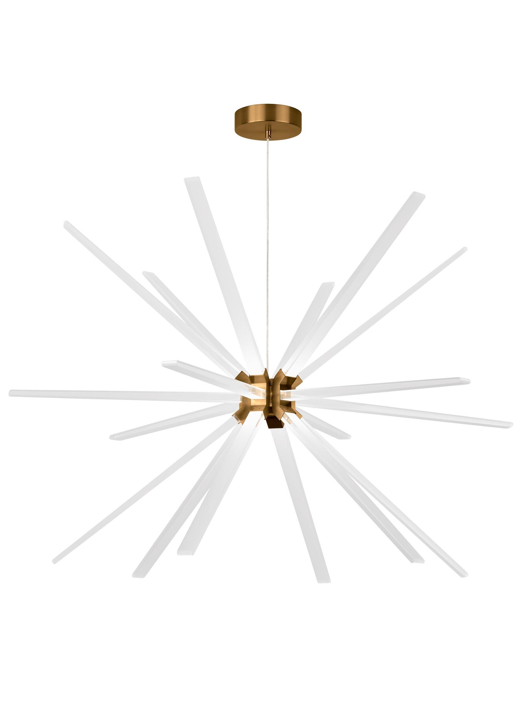 Maderia 18-Light  LED  Chandelier Finish: Aged Brass