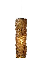 Macomber 1-Light Cylinder Pendant Shade Color: Amber, Finish: Bronze, Mounting Type: Monopoint Pendant