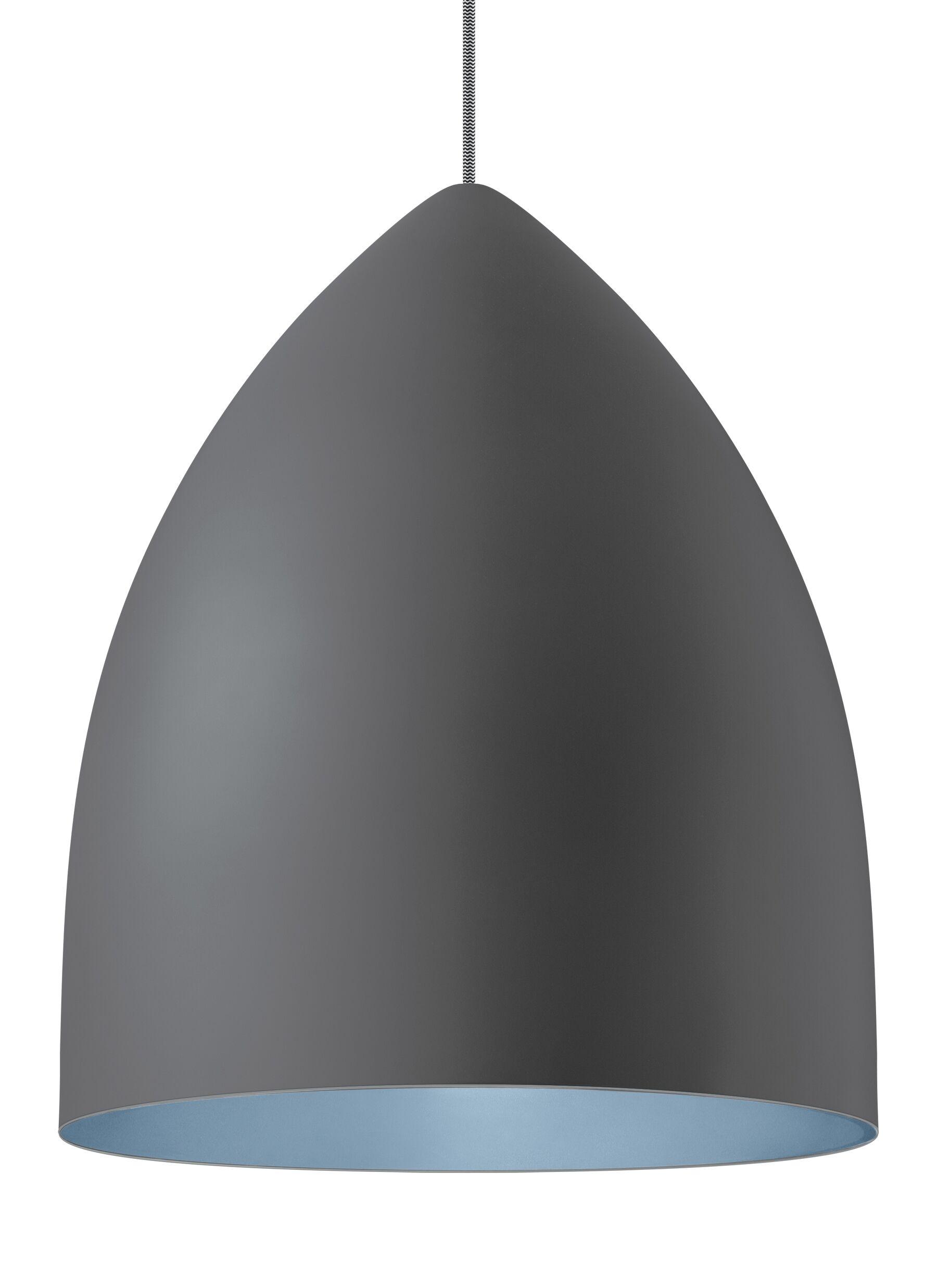 1-Light Cone Pendant Shade Color: Rubberized Gray/Blue