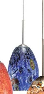 Monty 1-Light Cone Pendant Color: Blue, Finish: Bronze, Mounting Type: Monopoint (canopy included)