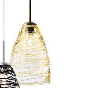 Ottinger 1-Light Cone Pendant Color: Amber, Finish: Bronze, Mounting Type: Track Head Only