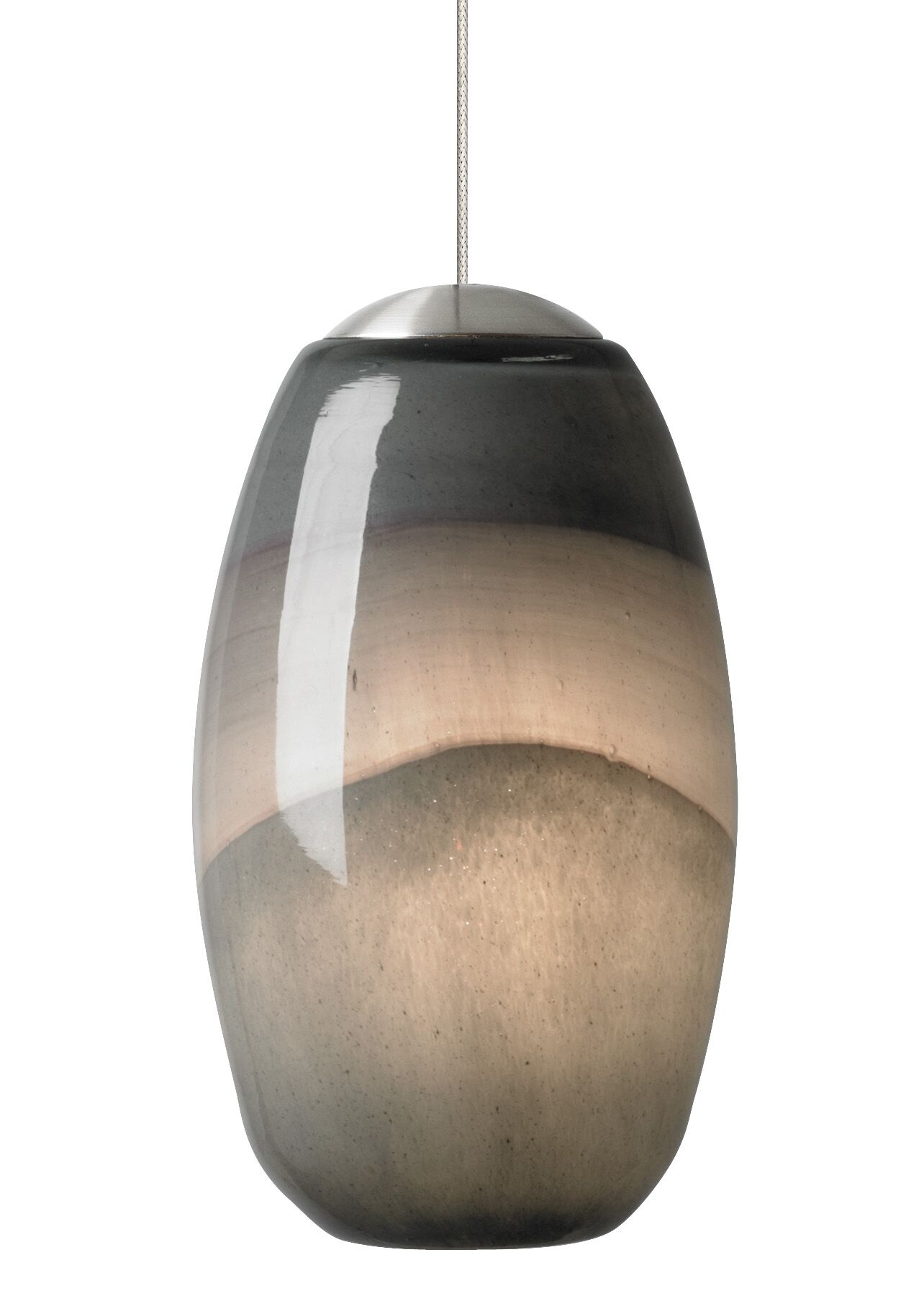 Foley 1-Light Cone Pendant Finish: Bronze, Shade Color: Ivory-Brown, Mounting Type: LED - Fusion Jack Mini Pendant