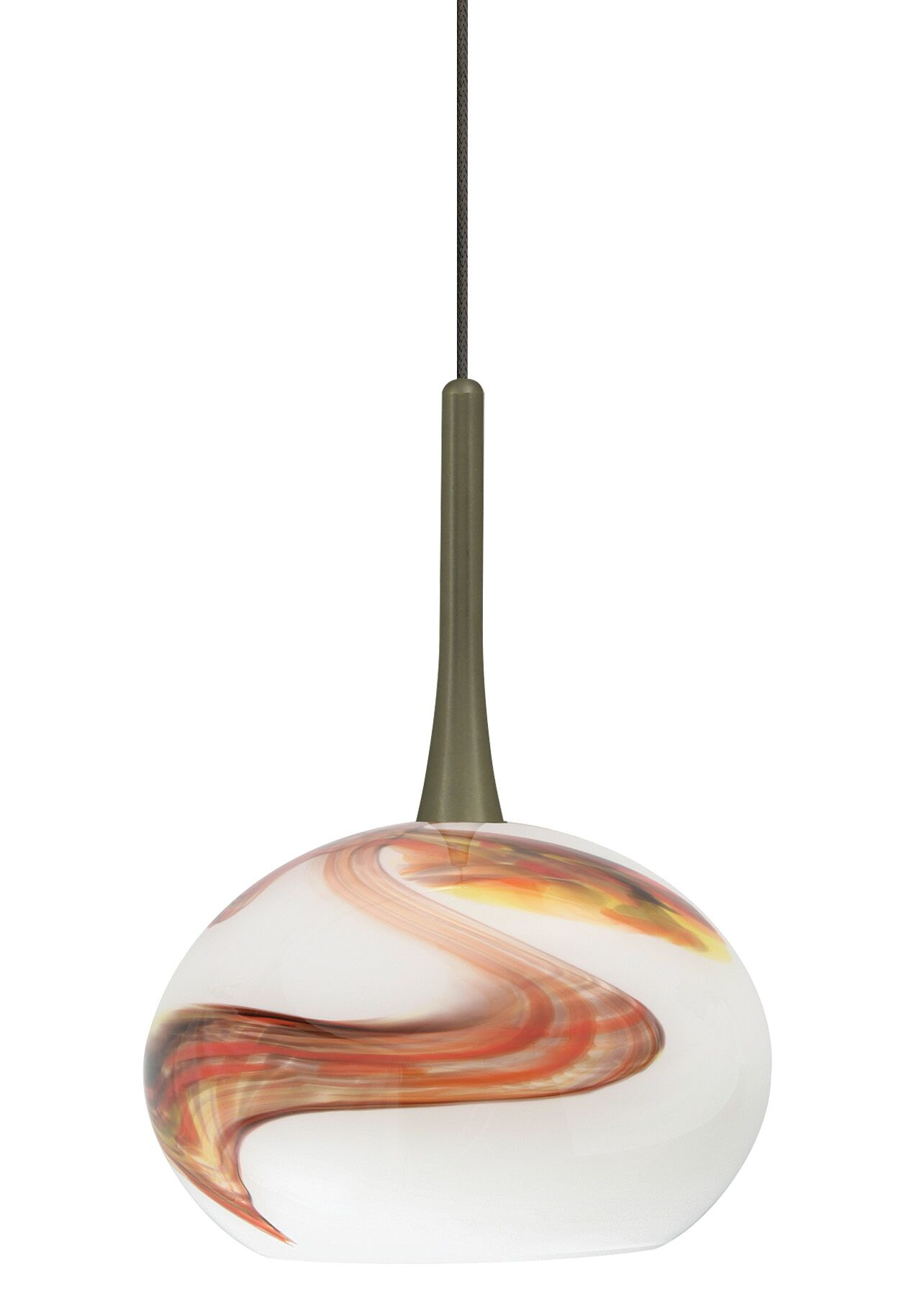 Neptune 1-Light Globe Pendant Finish: Bronze, Shade Color: Opal, Bulb Type: Xenon