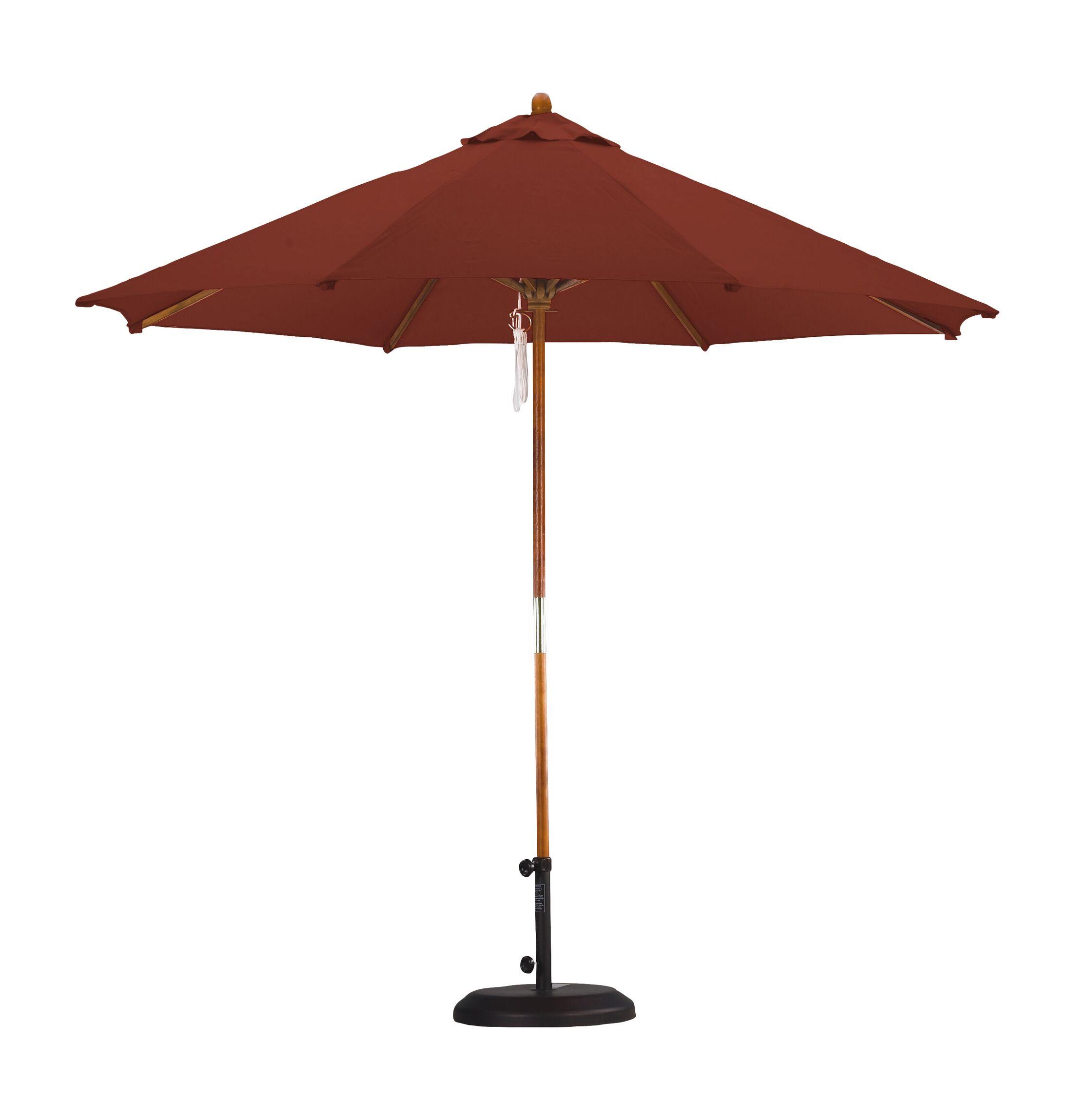 April Woodhaven 9' Market Umbrella Fabric: Polyester Brick
