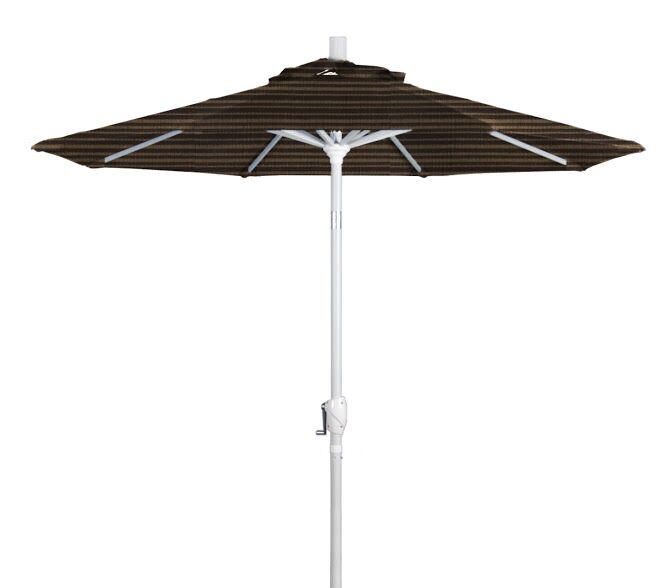 Cello 7.5' Market Umbrella Frame Finish: Matte White, Color: Terrace Adobe