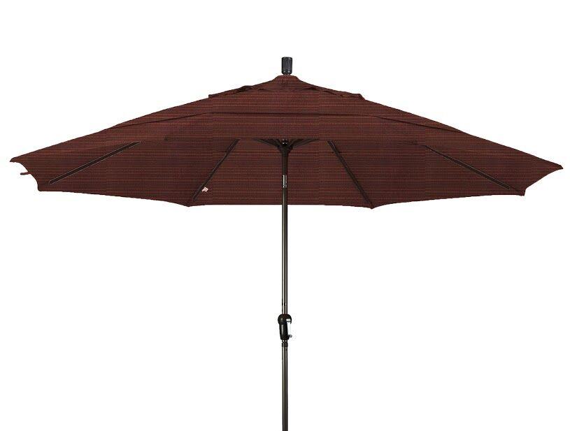 Mullaney 11' Market Umbrella Color: Terrace Sequoia, Frame Color: Bronze