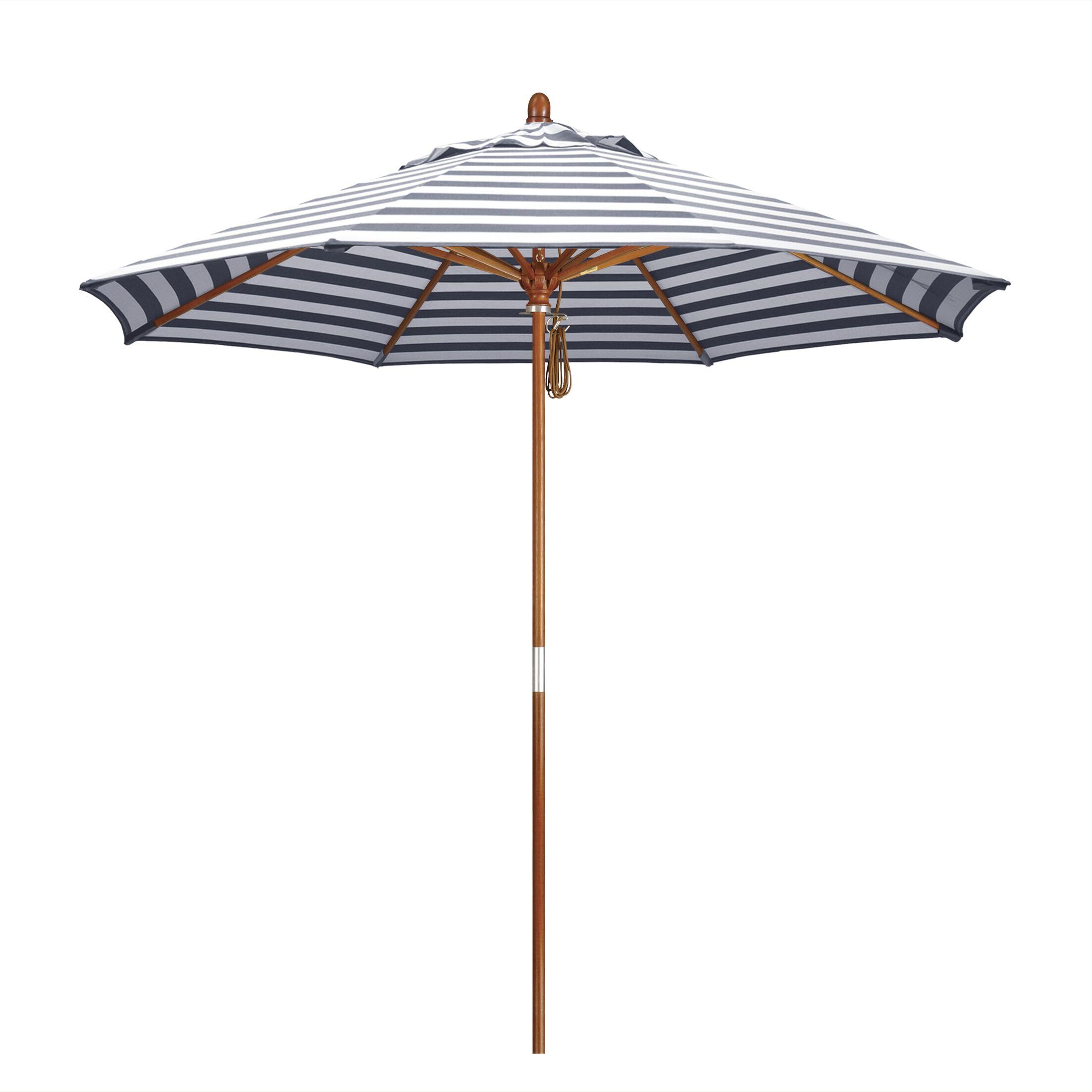 Mare 9' Market Umbrella Fabric Color: Olefin - Navy White Cabana Stripe