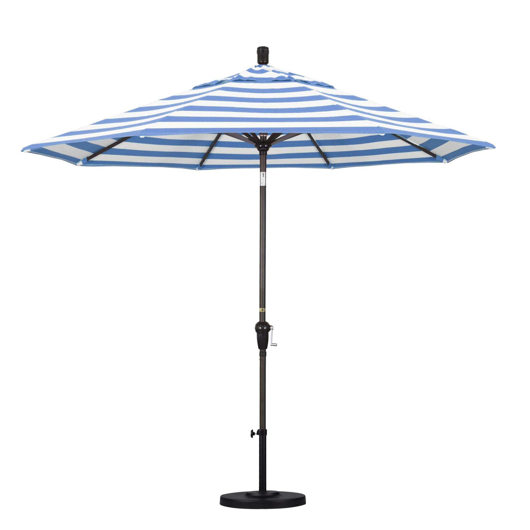 8.5' Market Umbrella Fabric Color: Regatta, Frame Color: Bronze